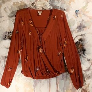 Lightweight Long Sleeve Rust Color with Top